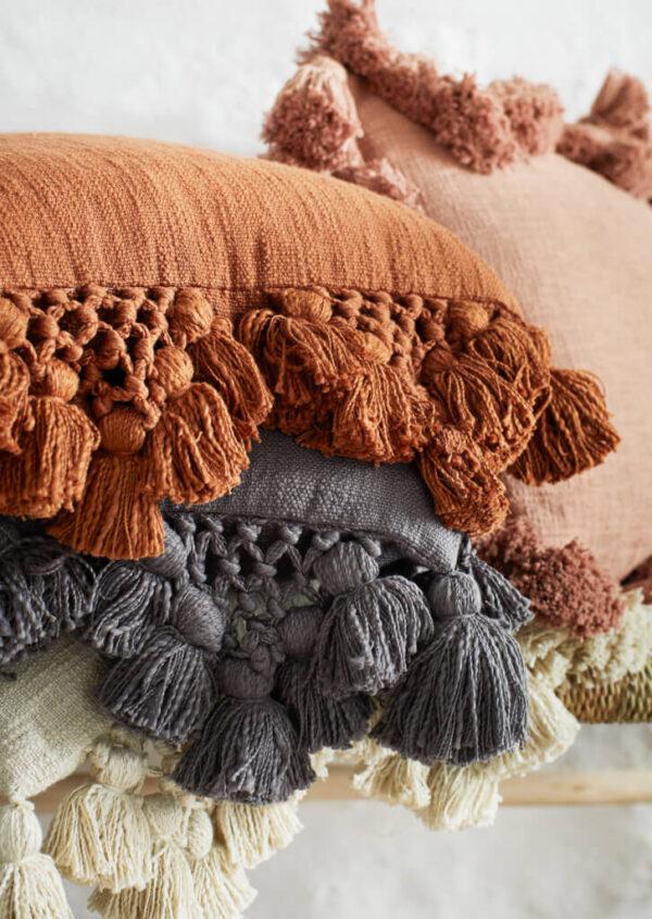 Puuvillased padjakatted makrameega
