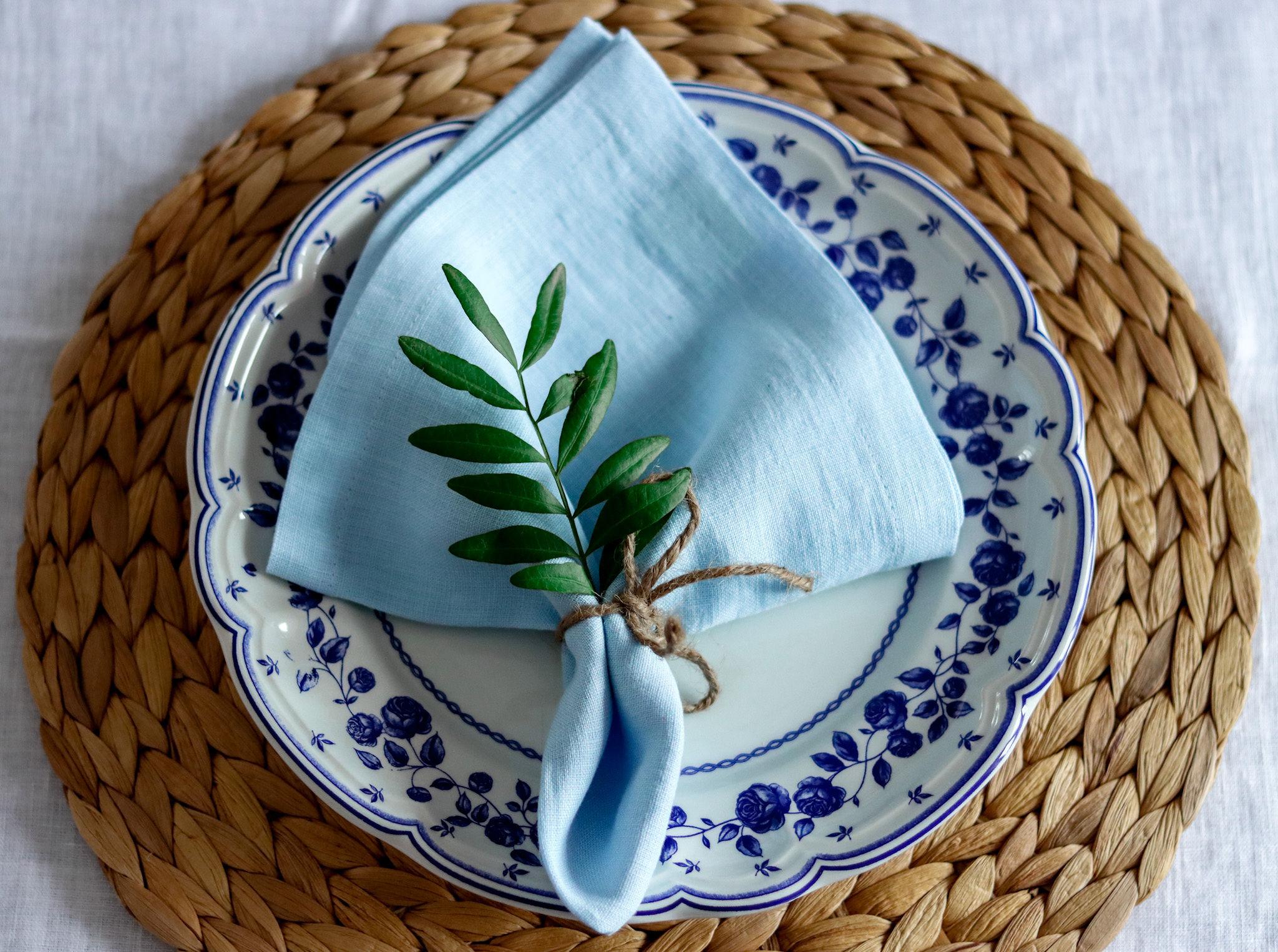 Sinine linane salrätik
