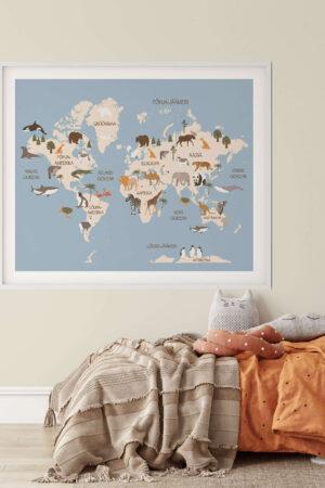 Aafrika loomadega poster